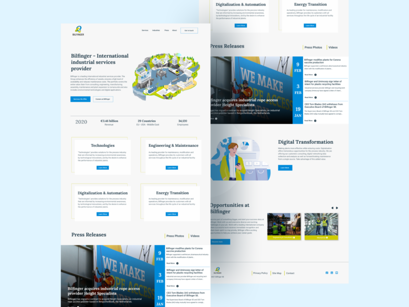 A website to make your business stand out