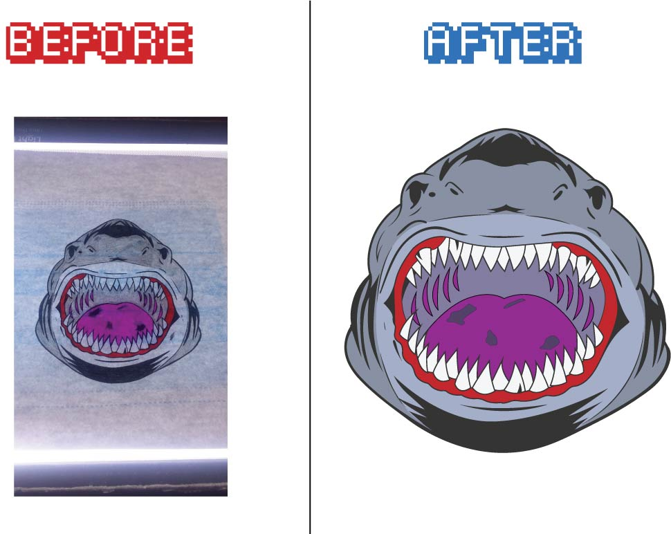 Image Vectorization/Tracing for Vinyl Cutting/Printing and creating cut lines