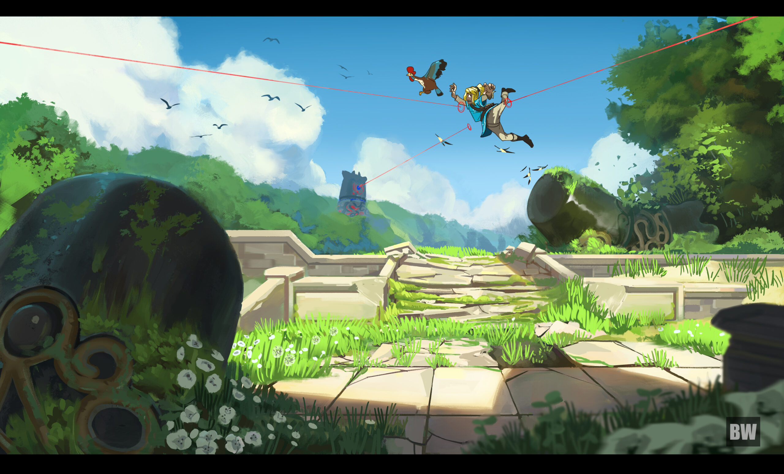 Environment and Character Artist open for Commissions, Come peep my artwork!