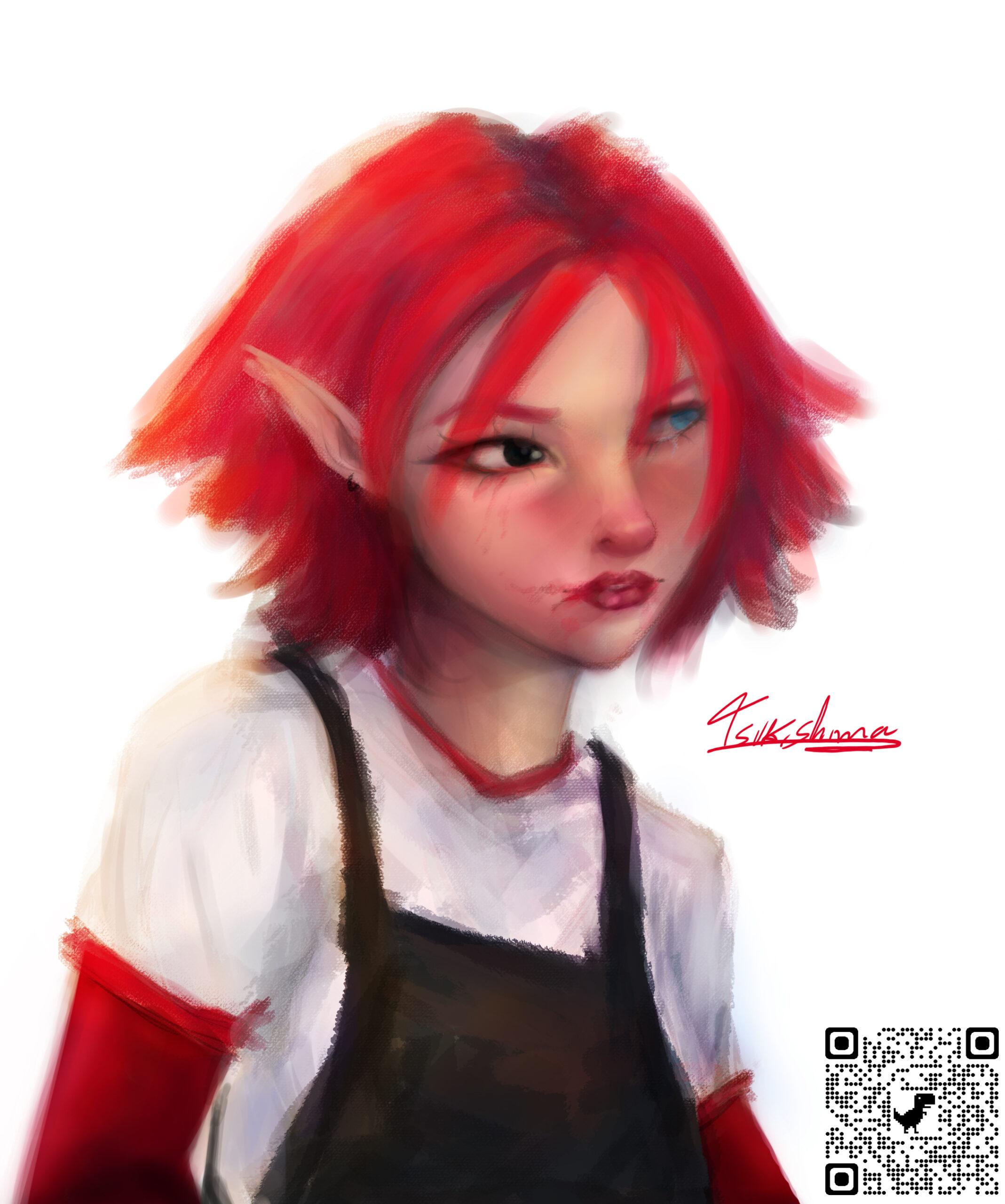Portrait style art