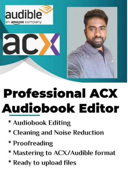 Audiobook Editor and Mastering for ACX, Findaway voices